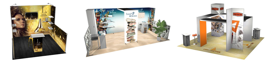 Panoramic H-Line Fabric Modular Displays - let us help you choose the best panel module configuration
